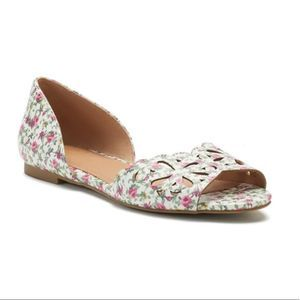 SO Loach Floral Flats Shoes New